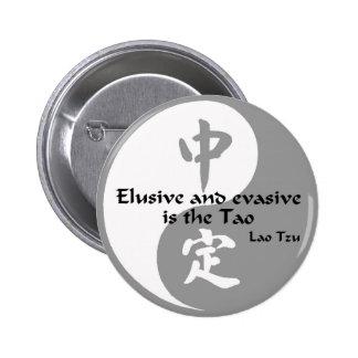Yin Yang - evasivo y evasivo Pin Redondo De 2 Pulgadas