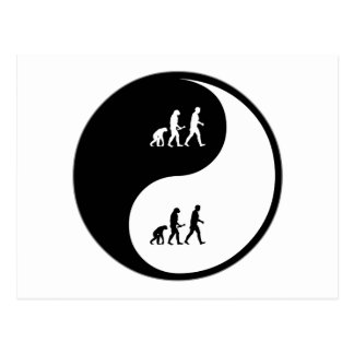 Yin Yang Evolutionary Biology Postcard