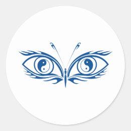 Yin Yang Eyes Classic Round Sticker
