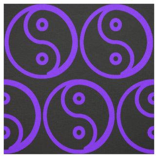 Yin Yang Fabric - Black, Purple Blue Tone