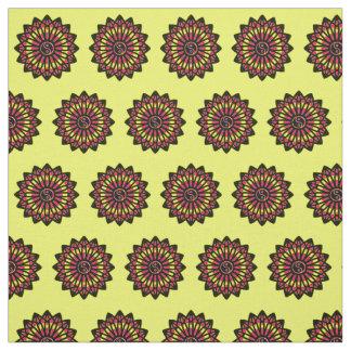 Yin Yang Fabric - Black, Yellow, Red