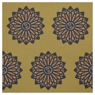 Yin Yang Fabric - Coffee Brown