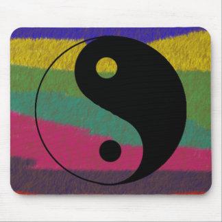 Yin Yang Felt Mousepad