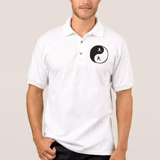 Yin Yang Fencing Polo T-shirts