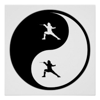Yin Yang Fencing Posters