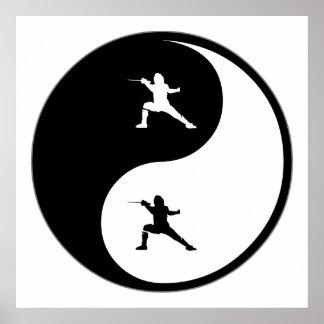 Yin Yang Fencing Poster