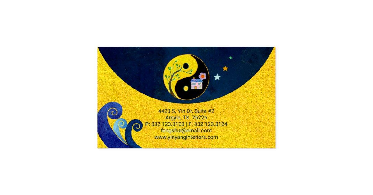 Yin yang feng shui interior business cards zazzle for Feng shui business cards