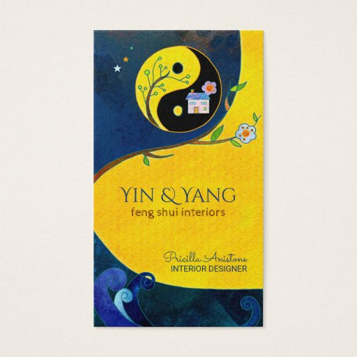 Yin & Yang Feng Shui Interior Business Cards