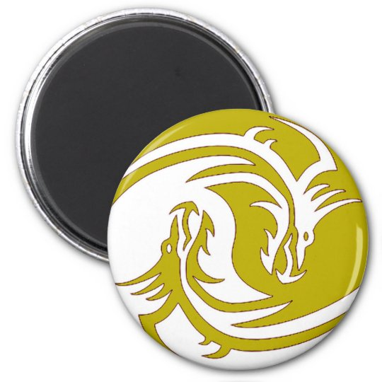 Yin Yang Fierce Dragons 5 Magnet