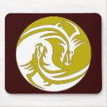 Yin Yang Fierce Dragons 5 Mousepad