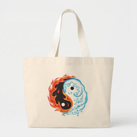 Yin Yang fire & Ice Large Tote Bag