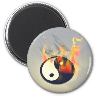 Yin Yang Fire Magnets