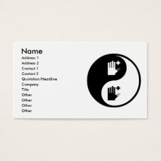 Yin Yang First Aid Business Card at Zazzle