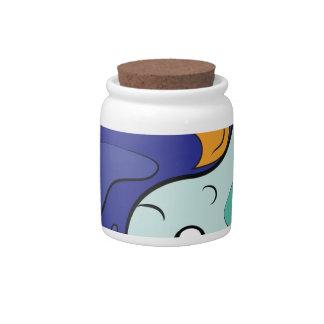 Yin Yang Fish Candy Jar