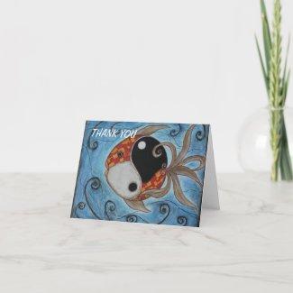 Yin Yang Fish card