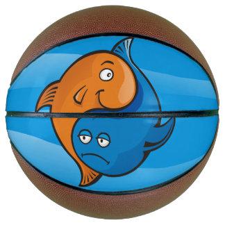 Yin Yang Fish Cartoon Basketball