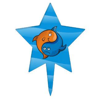 Yin Yang Fish Cartoon Cake Topper