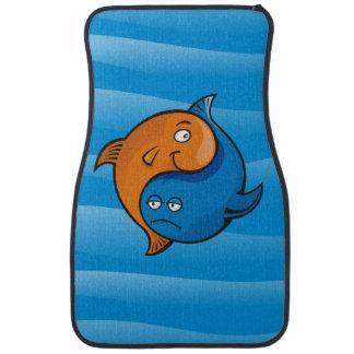 Yin Yang Fish Cartoon Car Floor Mat