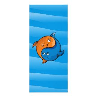 Yin Yang Fish Cartoon Custom Announcement