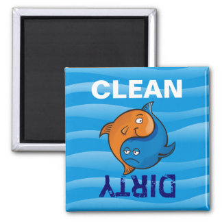 Yin Yang Fish Cartoon Magnet