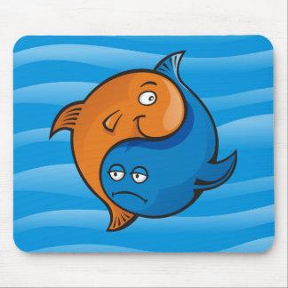 Yin Yang Fish Cartoon Mouse Pad