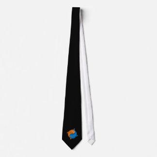Yin Yang Fish Cartoon Neck Tie