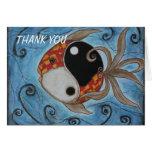 Yin Yang Fish Greeting Cards