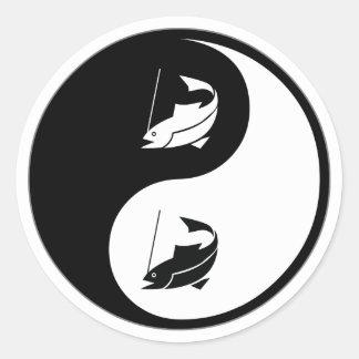 Yin Yang Fishing Sticker