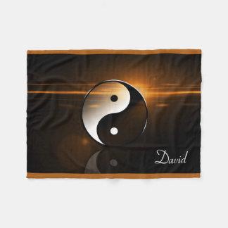 Yin Yang Fleece Blanket