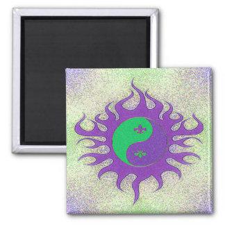 Yin Yang Fleur De Lis Refrigerator Magnet