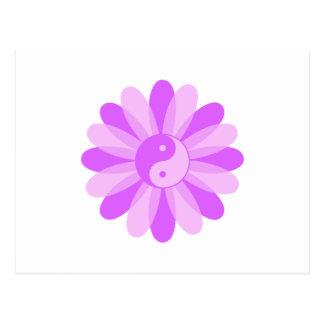 Yin Yang Floral Postcard