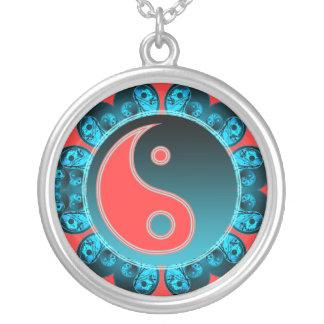 Yin Yang Flower Necklace