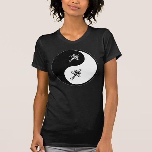 Yin Yang Flower T Shirts