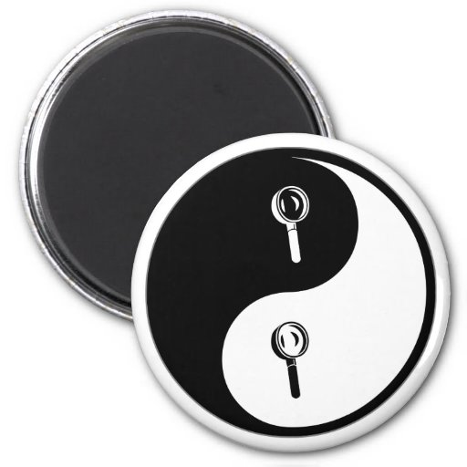 Yin Yang Forensic Science 2 Inch Round Magnet