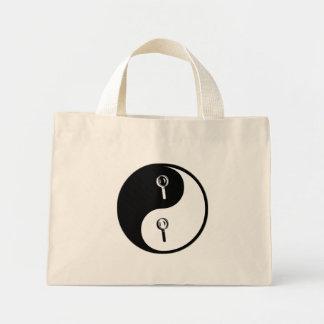 Yin Yang Forensic Science Tote Bags