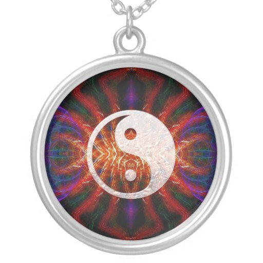 Yin Yang Fractal Energy Necklace