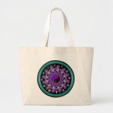Yin-Yang Fractal Mandala Celtic Mystical Tote Bag
