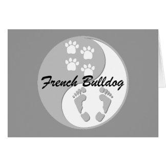 yin yang french bulldog card