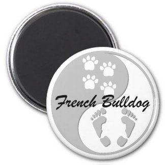 yin yang french bulldog magnet