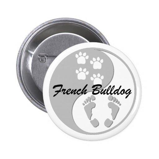 yin yang french bulldog pin