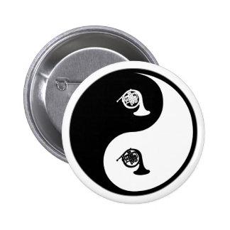 Yin Yang French Horn Pinback Button