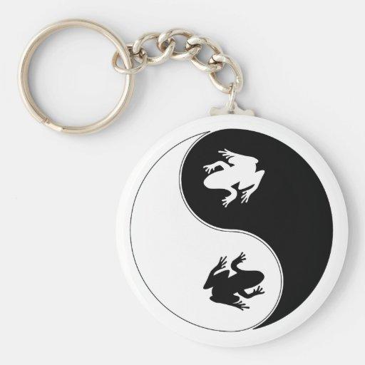 Yin Yang Frog Key Chains