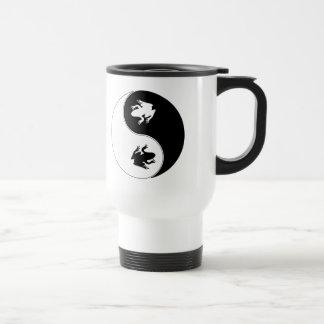 Yin Yang Frog Travel Mug