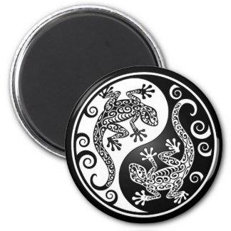 Yin Yang Geckos 2 Inch Round Magnet