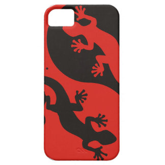 YIN & YANG Geckos black red + your background idea iPhone SE/5/5s Case