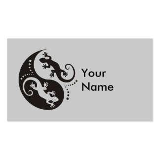YIN & YANG Geckos black + your background & idea Business Card Templates