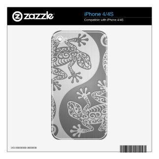 Yin Yang Geckos, Stainless Steel Effect iPhone 4S Decal