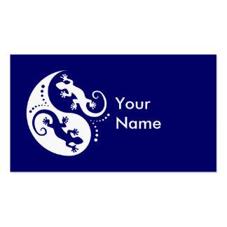 YIN & YANG Geckos white + your idea Business Card