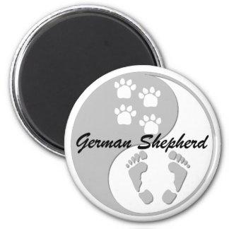 yin yang german shepherd magnet