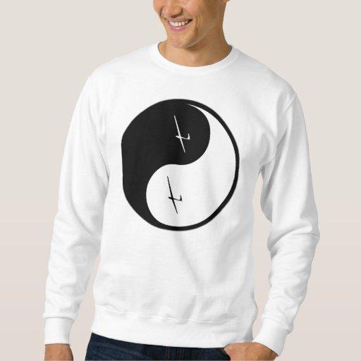 Yin Yang Gliding Pull Over Sweatshirts